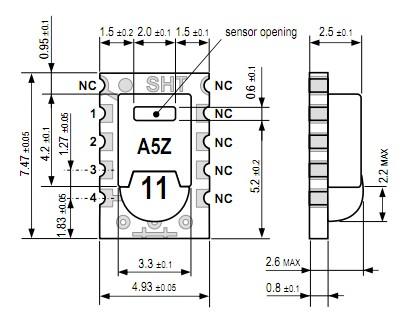 数字温湿度传感器 sht1x系列
