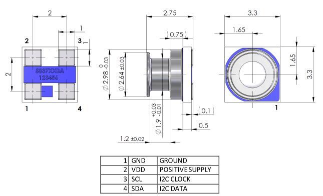 名称: 高精度测量水深小型智能压力传感器ms5837-30ba